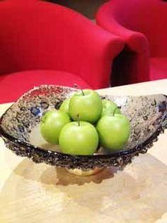 Amenity fruit bowl. Glass bowl design by Glass Studio www.the-glass-co.com