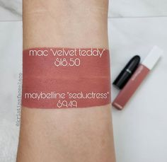 MAC Velvet Teddy Lipstick Dupes - All In The BlushYou can find Mac velvet teddy and more on our website.MAC Velvet Teddy Lipstick Dupes - All In The Blush Berry Lipstick, Lipstick For Fair Skin, Velvet Lipstick, Mauve Lipstick, Liquid Lipstick, Makeup Elf, Eye Makeup, Beauty Makeup, Costume Makeup