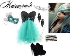 """Masquerade"" by candygurl2007 ❤ liked on Polyvore"