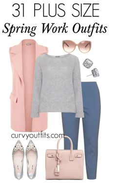 31 stylish plus size spring work outfits. work outfits plus size 31 stylish plus size spring work outfits Office Outfits Women, Spring Outfits Women, Casual Work Outfits, Business Casual Outfits, Curvy Outfits, Mode Outfits, Work Casual, Curvy Work Outfit, Denim Outfits
