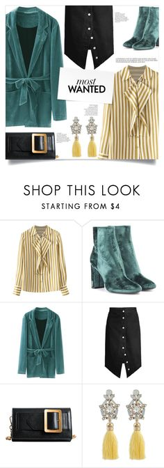 """""""Crushing On Velvet"""" by mahafromkailash ❤ liked on Polyvore featuring Yves Saint Laurent and Avenue"""