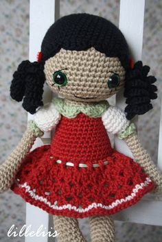Anita  amigurumi doll crochet toy by lilleliis on Etsy, $56.00