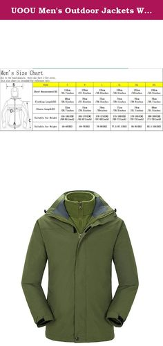UOOU Men's Outdoor Jackets Waterproof Windproof Fleece Thickened Ski Jacket ArmyGreen. Outstanding Design The windproof cap, 3D full view, prevent the rain on the face. Three dimensional drawing rope, free to adjust the width of the hat. Under the armpit ventilation holes, movement to help breathe. Cuff magic stick, can adjust the size of the cuffs, to prevent the cold wind. Cuff magic stick, can adjust the size of the cuffs, to prevent the cold wind. Adjustable drawstring hem, firm and...