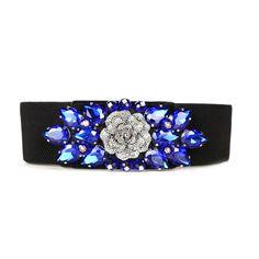 2017 new fashion design women  belt elastic belts for women  rhinestone strap dress belts 4 colors hand made belts