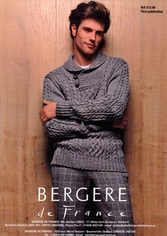 Button Collar Sweater in Bergere de France Baronval (312.00)   Mens Knitting Patterns   Knitting Patterns   Deramores