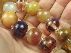 Into the Fire Lampwork Art Beads ~Pesca di Corallo~ Artist handmade glass beads