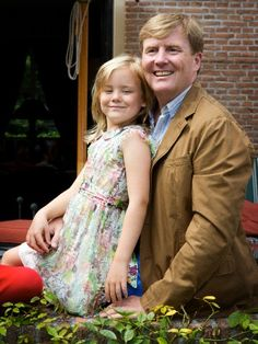 Dutch Princess Ariane and King Willem-Alexander during  photo session in Wassenaar