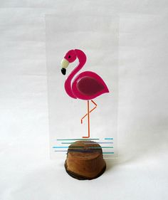 Hey, I found this really awesome Etsy listing at https://www.etsy.com/uk/listing/493078186/fused-glass-flamingo-panel-handmade