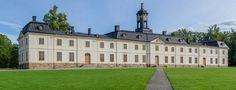 """Svartsjö Palace (Swedish: Svartsjö slott, """"Black Lake Castle"""") is a Rococo palace situated in Svartsjö on the island of Färingsö in lake Mälaren."""