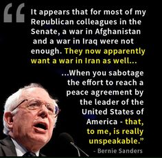 Bernie Sanders Words Of Wisdom. Republicans will continue to get us into War After Undeclared War to line their pockets with money. Political Opinion, Political Topics, Political Science, Troll, Bernie Sanders For President, Thats The Way, Need To Know, In This World, Revolution