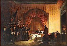 BONAPARTE RECOIT A MILLESIMO LES DRAPEAUX ENLEVES A L'ENNEMI.AVRIL 1796- Roehn Adolphe