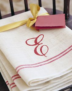 Martha Stewart shows us how to make our own Monogrammed Hand Towels. You won't believe how easy!