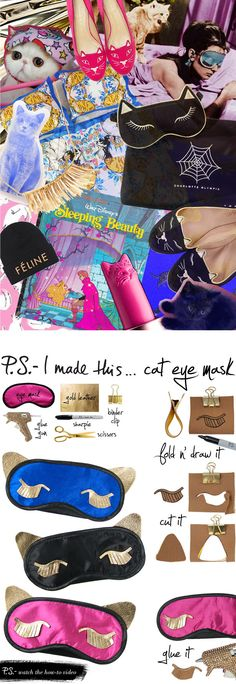 P.S.- I made this...Cat Eye Mask inspired by @Charlotte Willner Olympia #PSIMADETHIS #DIY