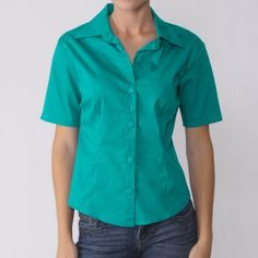 Journee Collection Women's Half Sleeve Fitted Blouse Journee Collection. $9.99