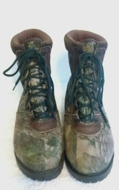 ROCKY CAMO HUNTING BOOTS GORE-TEX 500 Grams Thinsulate SZ 10 MW STYLE 949 #RockyBoots #HikingTrail