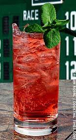 Royal Stretch - cherry juice, club soda, Crown Royal whisky.
