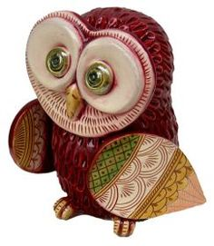 Bordeaux Owl Entirely handmade, modeled, caged, etched and coloured with ceramic Varnishes on Effects and ceramic Varnishes. It was created following the ancient Technics of the traditional Ceramic from Grottaglie and enriched with new ornamental Expressions. #artigianatp #madeinitaly #ceramica #ceramic #oggettistica #craftobject