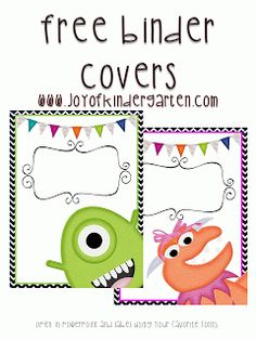Joy of Kindergarten: Binder Covers Freebies, Washi Tape and Ribbon