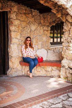 On The Dot with LOFT at www.alicemarieh.com #loveloft #polkadots #jeans #minisatchel #sunglasses