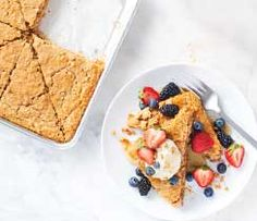Get your beauty sleep—breakfast is covered! Just bake, portion, and wrap individually. Keep frozen and pop into the toaster to reheat. Make it a Perfectly Balanced Plate & Serve with: Top with cup Greek yogurt and cup fresh fruit Easy Brunch Menu, Brunch Recipes, Epicure Recipes, Popcorn Seasoning, Meat Rubs, Just Bake, Specialty Foods, Food Categories, Baking Supplies