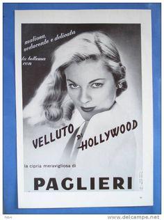 cipria PAGLIERI -1953 - cm 29x20 -vintage advertising -reclame