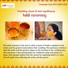The Haldi Ceremony Is One In Which A Paste Of Applied On
