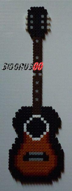 Guitar hama perler beads by Sidorus00 (H= 31 cm L= 9 cm)