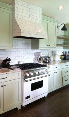 Kraftmaid willow cabinets cottage kitchen ideas for Benjamin moore tea light