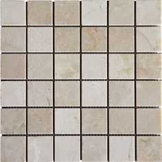 """Found it at Wayfair - 2"""" x 2'' Marble Mosaic Tile in Crema Marfil"""