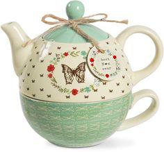 Best Mom Ever 15 oz Teapot & 8 oz Cup Set Tea For One, My Tea, Chocolate Pots, Chocolate Coffee, Royal Tea, Teapots And Cups, Fine Wine, Best Mom, Tea Time