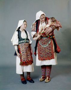 Festive costumes from Aegean Macedonia, Greece