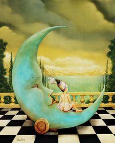 """""""Lune à roulettes"""" par Agnès Boulloche"""