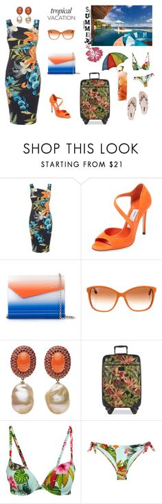 """Tropical Vacation"" by glamariss ❤ liked on Polyvore featuring Karen Millen, Jimmy Choo, Dolce&Gabbana and Patricia Nash"