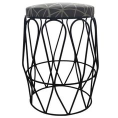 Undulate Stool  Black epoxy coated steel legs with our Facet fabric in Duck Egg.  www.peek.org.za