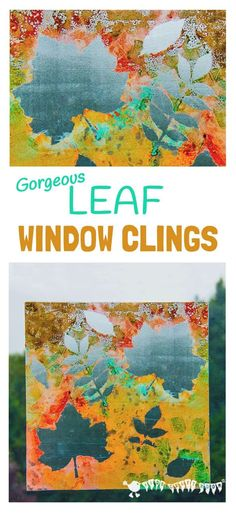 FALL LEAF ART - Make removable window paintings/window clings. A beautiful Fall leaf craft activity that captures the Nature's magic and brings all the beautiful colours inside. Autumn Activities For Kids, Fall Crafts For Kids, Art Activities, Art For Kids, Autumn Art Ideas For Kids, Kids Diy, Leaf Crafts Kids, Infant Activities, Autumn Leaves Craft