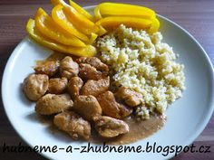 Dobroty od Adele :): Karamelové kuřecí s bulgurem (283 kcal) Baby Food Recipes, Mashed Potatoes, Almond, Food Porn, Food And Drink, Beef, Fitness, Ethnic Recipes, Adele