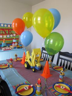 """Photo 27 of 27: Construction / Birthday """"Whos """"digging"""" to be one! Twins first birthday"""" 