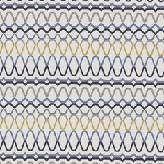 Shop for Fabric at Style Library: Ada by Scion. Horizontal bands of embroidery combine to form a striking all-over fabric design on a cotton-mix cloth,. Geometric Fabric, Modern Fabric, Geometric Patterns, Scion Fabric, Kitchen Blinds, Painted Rug, Curtains With Blinds, Concept Home