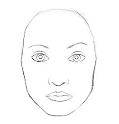 Blank human face outline - photo#28