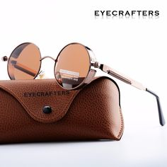 b8d6ad4830 Gold Metal Polarized Sunglasses Gothic Steampunk Sunglasses Mens Womens  Fashion Retro Vintage Shield Eyewear Shades 372 Red-in Sunglasses from Men s  ...
