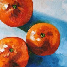 Threes A Crowd - Still life oil painting - 6x12