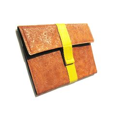 iPad Case with Stand  Brown and Yellow  Fits 2G 3G by QuietDoing, $42.00