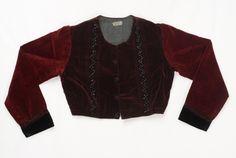 Greece, Macedonia, Drama, sleeved velvet jacket (zipouni) Greek Traditional Dress, Velvet Jacket, Greeks, Central Asia, Macedonia, Albania, Historical Clothing, Exploring, Drama