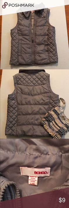 Bongo Light Gray Puffy Vest Bongo Brand, light gray puffy vest.  Size L.  Only worn a couple of times BONGO Jackets & Coats Vests