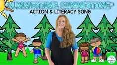 """Sing, Move, Read and Write using this fun action song """"Summertime, Summertime"""". Kindergarten Music Lessons, Preschool Music Activities, Movement Preschool, Movement Activities, Kids Songs With Actions, Movement Songs, Action Songs, Literacy Stations, Music Education"""