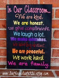 classroom sign: