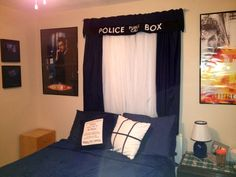 Tardis themed room decor ~by Bonehead Totes Bags & Other Cool stuff