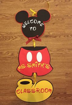 Mickey Mouse Birthday Door Sign Mickey Mouse by JVcreationshop