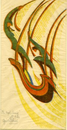 Cyril E. Power ~ The High Swing, c.1933 (linocut)