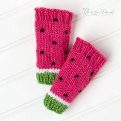 Watermelon Leg Warmers Pattern by Nona Davenport